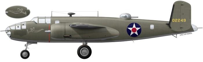 B-25B DR, 40-2249, Hari Kari-er, Greening