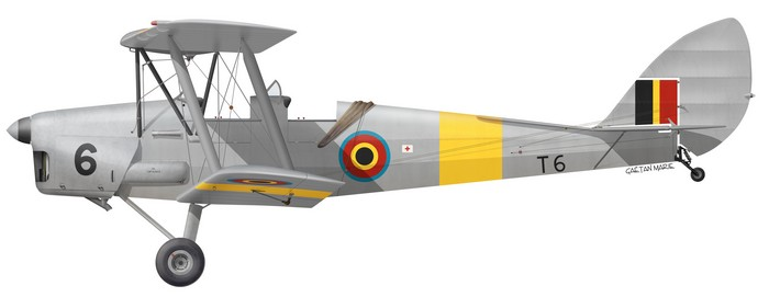 DH.82A Tiger Moth, Belgium, T-6