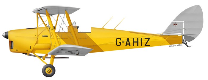 DH.82A Tiger Moth, G-AHIZ