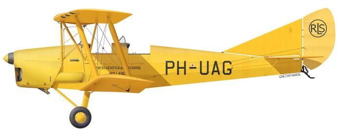 DH.82A Tiger Moth, RNLAF, PH-UAG, Rijksluchtvaartschool