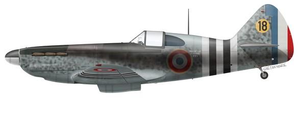 France, D.520 No 2, 18, Groupe de Chasse Doret, 1944