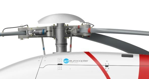 France, EC 120B, F-HBCN, EALAT de Dax, 2011 - rotor detail