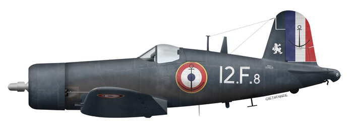 France, F4U-7, Flottille 12.F, Bois Belleau, Indochine, 1954