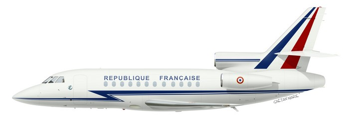 France, Falcon 900 No 2, F-RAFP, GLAM 01.060, 1989