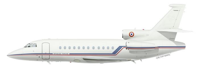 France, Falcon 900 No 4, F-RAFQ, ETEC 00.065 Villacoublay, 2011