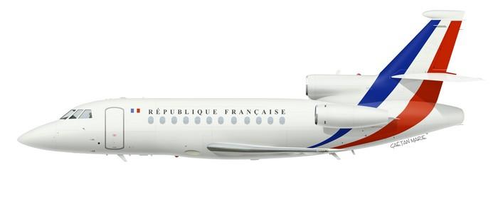France, Falcon 900 No 4, F-RAFQ, ETEC 00.065 Villacoublay, 2012