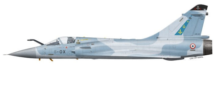 France, Mirage 2000C No 16, EC 2-5 Ile de France, 5-OX
