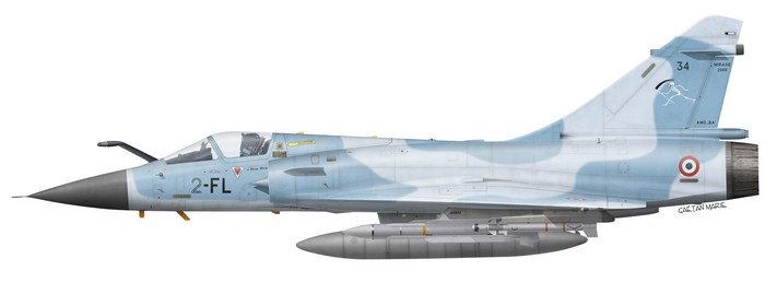 France, Mirage 2000C No 34, EC 2-2 Cote d'Or