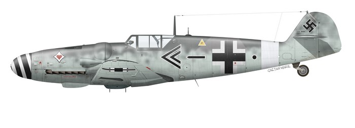 Germany, Bf 109G-6, Obslt. Johannes Steinhoff, JG 77, Foggia, August 1943