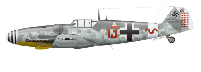 Germany, Bf 109G-6, W.Nr. 27169, Fw. Heinrich Bartels, 11.~JG 27, Kalamaki, November 1943