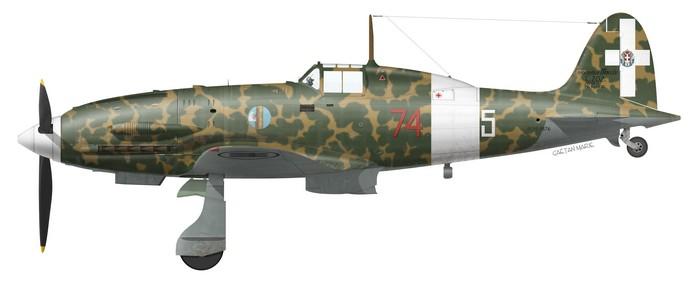 Italy, MC.202 Series xx, 74a Squadriglia