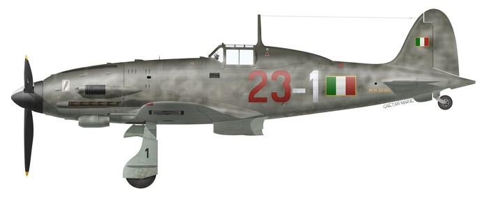 Italy, Macchi MC.205 Series III, MM.92302, Luigi Gorrini, 1a Squadriglia, 1944