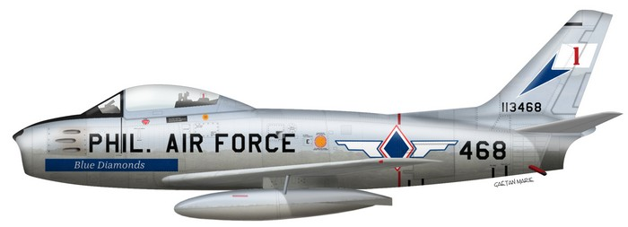 F-86F 52-4513, 334 FIS, Maj. James J. Jabara, 27 July 1953. PSS: AVIA.