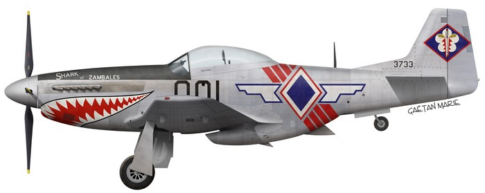 Philippines, P-51D-30-NA, 44-74627, Shark of Zambales, 3733 or 001