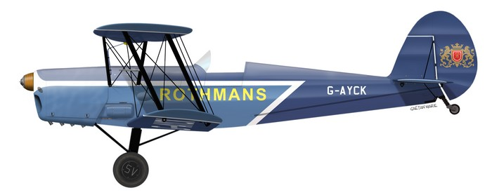 Stampe SV.4C, Rothmans team, G-AYCK