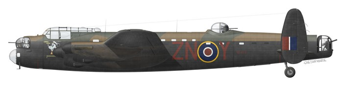 UK, Lancaster B I, W4118, Admiral Prune, S-L Guy Gibson, No 106 Squadron