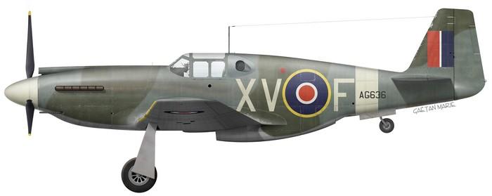 UK, Mustang Mk I, AG636, XV-F, No 2 Squadron, mid-1942