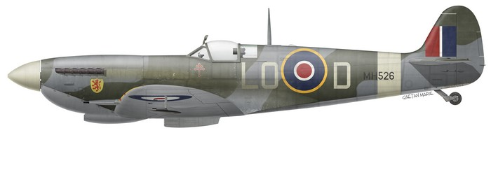 UK, Spitfire Mk IXc, MH526, Pierre Clostermann, No 602 Squadron, mai 1944