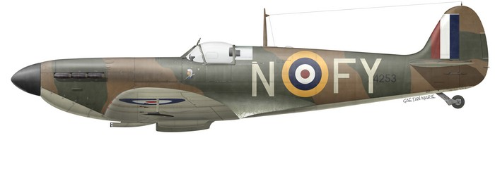 UK, Spitfire Mk Ia, X4253, Sgt Wilfred Duncan-Smith, No 611 Squadron, December 1940