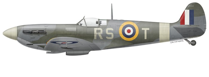 UK, Spitfire Mk Vb, BL336, Robert Stanford-Tuck, Biggin Hill Wing, 28 Jan 1942