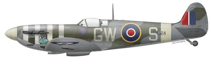 UK, Spitfire Mk Vb, BM324, Wg Cdr Bernard Duperier, No 340 Squadron