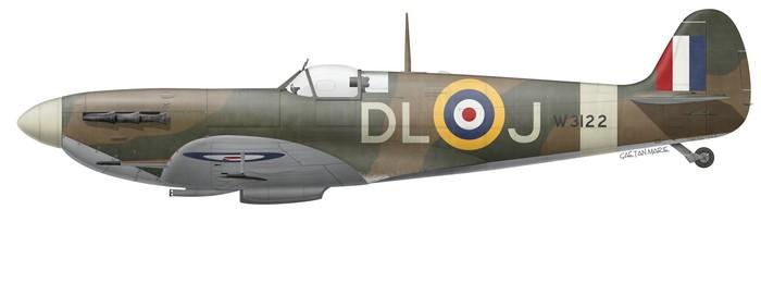 UK, Spitfire Mk Vb, W3122, F-L Jean Demozay, 91 Squadron, 1941