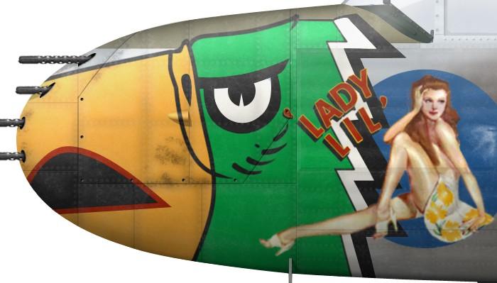 US, B-25J-22, 44-29577, Lady Lil, Lt Albert Beiga, 498 BS, 345 BG -d
