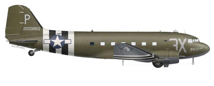US, C-47A-75-DL, 42-100882, Drag Em Oot, N473DC
