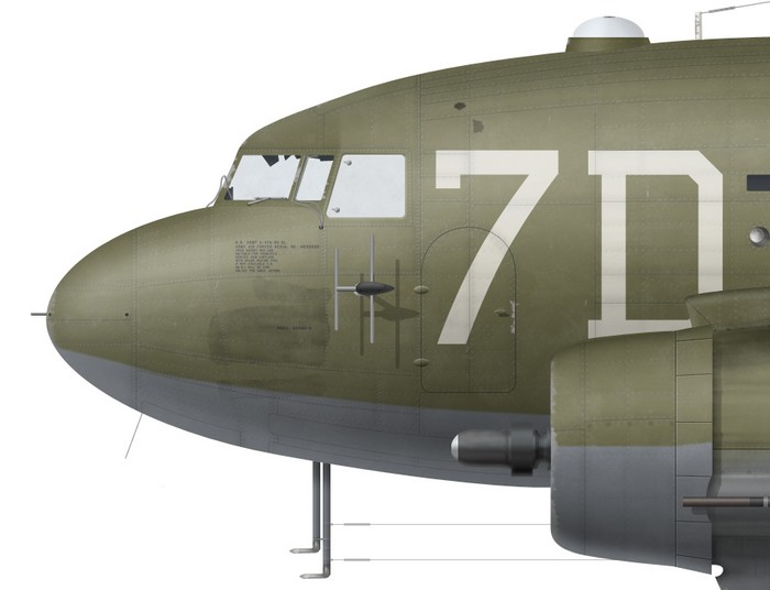 US, C-47A-80-DL, 43-15109, 80 TCS, 436 TCG -detail