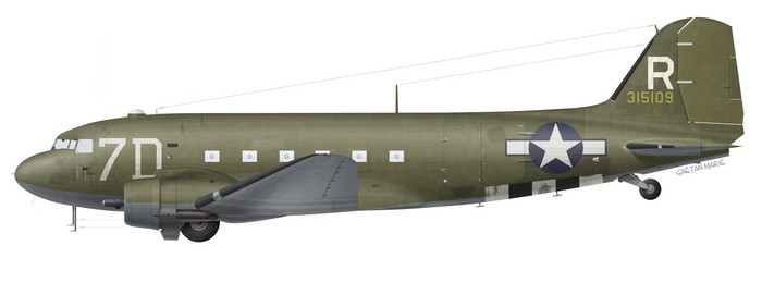 US, C-47A-80-DL, 43-15109, 80 TCS, 436 TCG