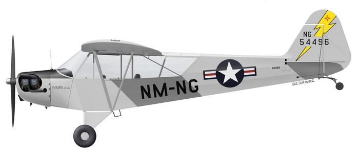 US, L-4J, 45-4496, N5580, ex NM NG