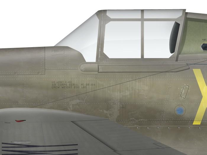 US, P-40-CU, 39-184, X-804, Luke Field -d