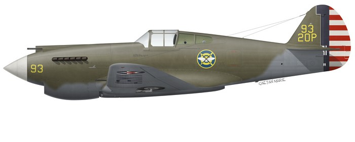 US, P-40-CU, XX-XXX, 55 PS, 20 PG, 1941