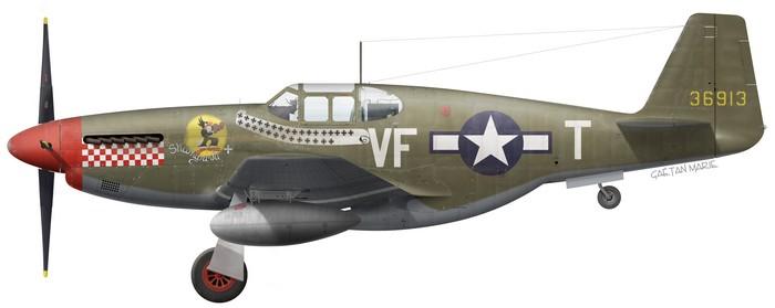 US, P-51B-7-NA, 43-6913, Shangri-La, Don Gentile, 336 FS, 4 FG