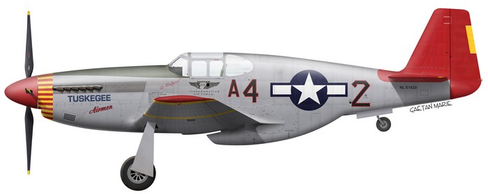 US, P-51C-10-NT, 42-103645, CAF, Tuskegee Airmen