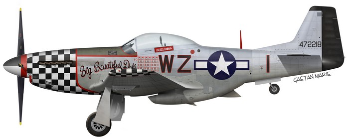 US, P-51D-20-NA, 44-72218, Big Beautiful Doll, Lt.Col. John D. Landers, 78 FG, 84 FS