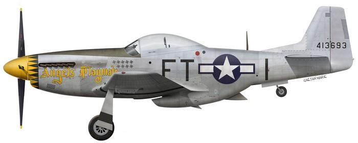 US, P-51D-5-NA, 44-13693, Angel's Playmate, Capt Bruce Carr, 353 FS, 354 FG