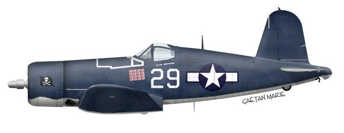 Lt. (jg) Ira C. Kepford's F4U-1A Corsair, VF-17, Bougainville, 1944.