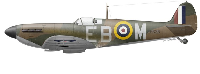 UK, Spitfire Mk Ia, R6635, F-L John Terrance Webster, No 41 Squadron, 5 September 1940