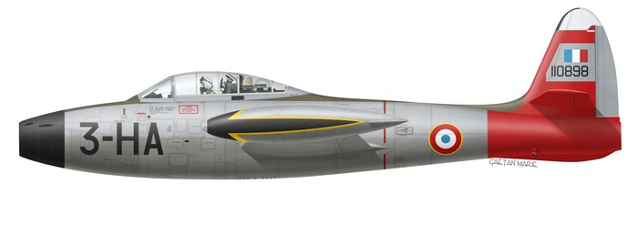 France, F-84G-21-RE, 51-10898, EC 1-3 Navarre, PAF 1953