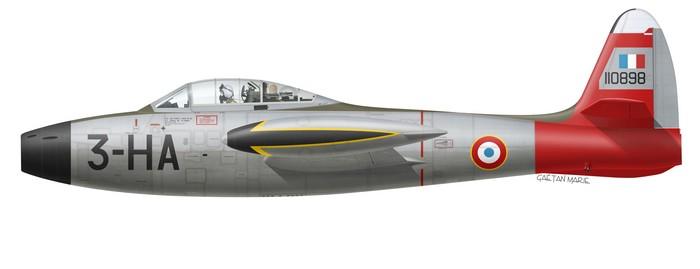 France, F-84G-21-RE, 51-10898, EC 1-3 Navarre, PAF 1953