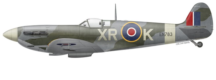 Spitfire Mk V EN783 of No 71 (Eagle) Squadron