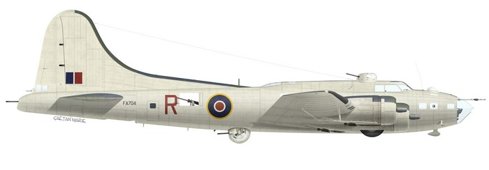 Boeing Fortress Mk II FA704, No 206 Squadron, flown by Wg Cdr R. B. Thompson, 11 June 1943.
