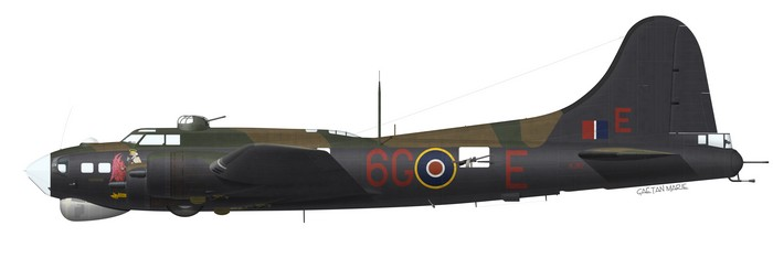 Boeing Fortress B.III KJ117, No 223 Squadron, 10 Group, based at RAF Oulton, May 1945.