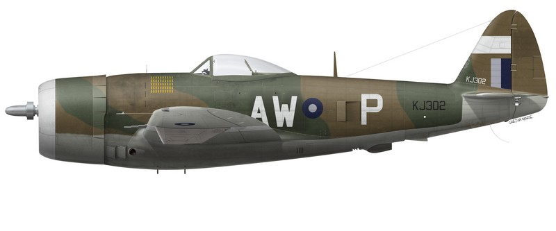 Thunderbolt Mk II KJ302, No 42 Squadron, Royal Air Force, Birmanie, été 1945.