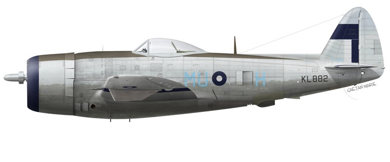 Thunderbolt Mk II KL882, No 60 Squadron, Royal Air Force, Tanjore, Inde, été 1945.