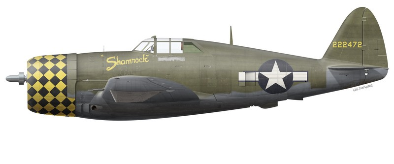 "Later in its career, ""Shamrock"" served with the 5th Emergency Rescue Squadron. On 27 May 1944, the aircraft was damaged in an accident at Boxted with Gerald P. Devine at the controls."