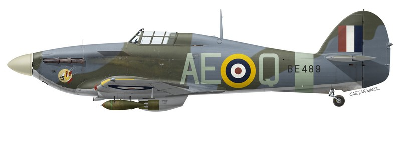 Hawker Hurricane Mk IIb BE489, No 402 (RCAF) Squadron, RAF Warmwell, 1942