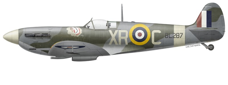 Spitfire Mk Vb BL287 flown by P/O Leo Nomis, No 71 (Eagle) Squadron, March 1942