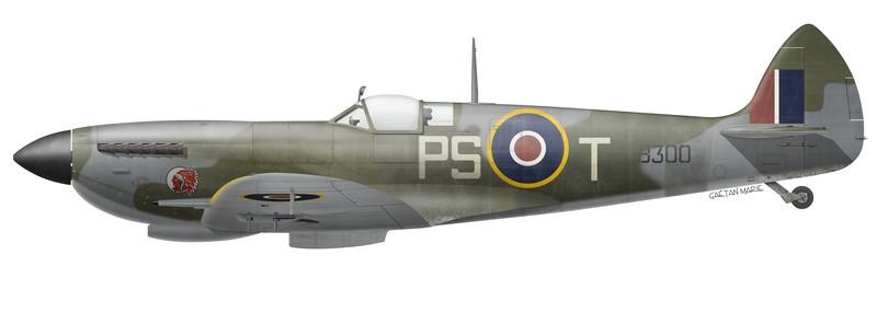 RCAF, Spitfire Mk XVIe TB300 piloté par le G/C Percival S. Turner, No 127 Wing, 1945